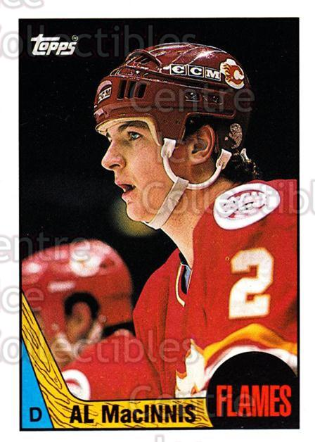 1987-88 Topps #72 Al MacInnis<br/>7 In Stock - $2.00 each - <a href=https://centericecollectibles.foxycart.com/cart?name=1987-88%20Topps%20%2372%20Al%20MacInnis...&quantity_max=7&price=$2.00&code=139163 class=foxycart> Buy it now! </a>