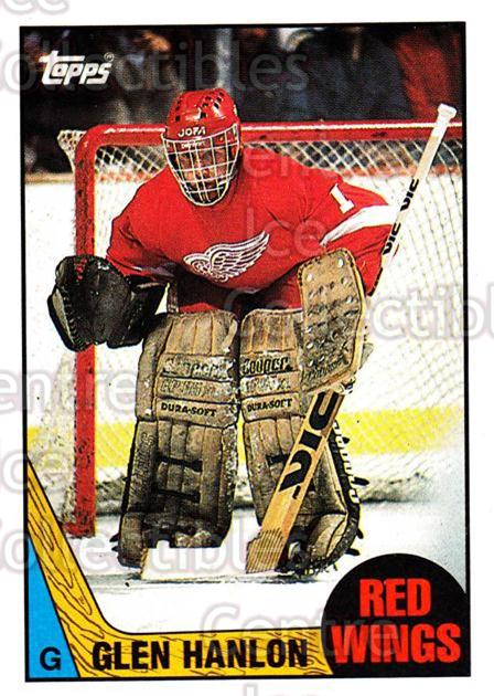 1987-88 Topps #89 Glen Hanlon<br/>5 In Stock - $1.00 each - <a href=https://centericecollectibles.foxycart.com/cart?name=1987-88%20Topps%20%2389%20Glen%20Hanlon...&quantity_max=5&price=$1.00&code=139181 class=foxycart> Buy it now! </a>