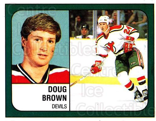 1988-89 Panini Stickers #272 Doug Brown<br/>4 In Stock - $1.00 each - <a href=https://centericecollectibles.foxycart.com/cart?name=1988-89%20Panini%20Stickers%20%23272%20Doug%20Brown...&quantity_max=4&price=$1.00&code=139311 class=foxycart> Buy it now! </a>