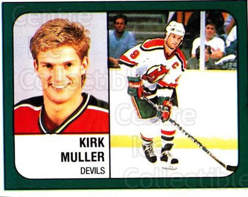 1988-89 Panini Stickers #275 Kirk Muller<br/>5 In Stock - $1.00 each - <a href=https://centericecollectibles.foxycart.com/cart?name=1988-89%20Panini%20Stickers%20%23275%20Kirk%20Muller...&quantity_max=5&price=$1.00&code=139314 class=foxycart> Buy it now! </a>