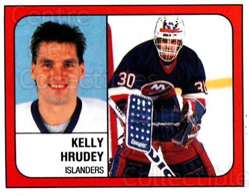 1988-89 Panini Stickers #283 Kelly Hrudey<br/>2 In Stock - $1.00 each - <a href=https://centericecollectibles.foxycart.com/cart?name=1988-89%20Panini%20Stickers%20%23283%20Kelly%20Hrudey...&quantity_max=2&price=$1.00&code=139323 class=foxycart> Buy it now! </a>