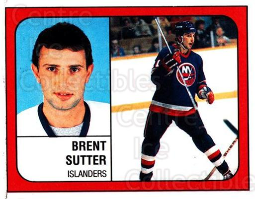 1988-89 Panini Stickers #292 Brent Sutter<br/>5 In Stock - $1.00 each - <a href=https://centericecollectibles.foxycart.com/cart?name=1988-89%20Panini%20Stickers%20%23292%20Brent%20Sutter...&quantity_max=5&price=$1.00&code=139333 class=foxycart> Buy it now! </a>