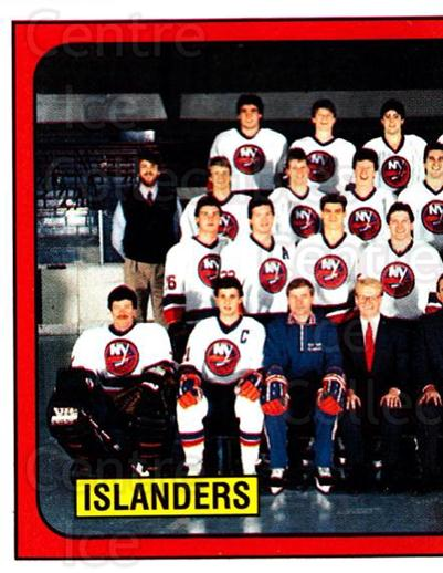 1988-89 Panini Stickers #295 New York Islanders, Team Photo<br/>5 In Stock - $1.00 each - <a href=https://centericecollectibles.foxycart.com/cart?name=1988-89%20Panini%20Stickers%20%23295%20New%20York%20Island...&price=$1.00&code=139336 class=foxycart> Buy it now! </a>