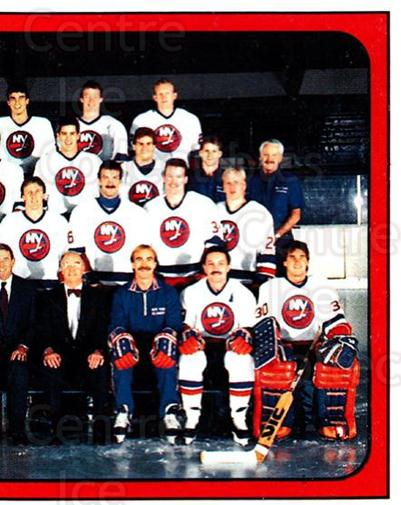 1988-89 Panini Stickers #296 New York Islanders, Team Photo<br/>5 In Stock - $1.00 each - <a href=https://centericecollectibles.foxycart.com/cart?name=1988-89%20Panini%20Stickers%20%23296%20New%20York%20Island...&price=$1.00&code=139337 class=foxycart> Buy it now! </a>