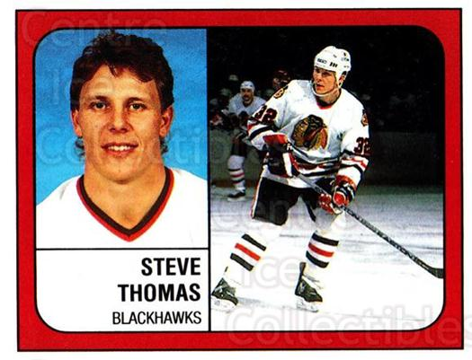 1988-89 Panini Stickers #30 Steve Thomas<br/>5 In Stock - $1.00 each - <a href=https://centericecollectibles.foxycart.com/cart?name=1988-89%20Panini%20Stickers%20%2330%20Steve%20Thomas...&quantity_max=5&price=$1.00&code=139342 class=foxycart> Buy it now! </a>