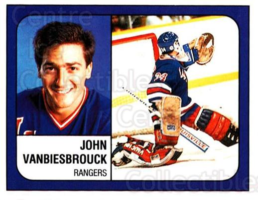 1988-89 Panini Stickers #300 John Vanbiesbrouck<br/>4 In Stock - $1.00 each - <a href=https://centericecollectibles.foxycart.com/cart?name=1988-89%20Panini%20Stickers%20%23300%20John%20Vanbiesbro...&quantity_max=4&price=$1.00&code=139343 class=foxycart> Buy it now! </a>