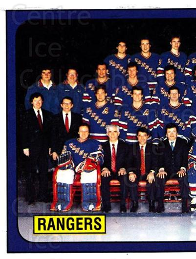 1988-89 Panini Stickers #311 New York Rangers, Team Photo<br/>4 In Stock - $1.00 each - <a href=https://centericecollectibles.foxycart.com/cart?name=1988-89%20Panini%20Stickers%20%23311%20New%20York%20Ranger...&price=$1.00&code=139355 class=foxycart> Buy it now! </a>