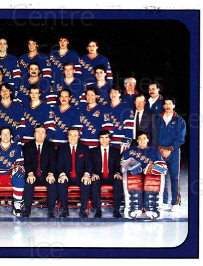 1988-89 Panini Stickers #312 New York Rangers, Team Photo<br/>3 In Stock - $1.00 each - <a href=https://centericecollectibles.foxycart.com/cart?name=1988-89%20Panini%20Stickers%20%23312%20New%20York%20Ranger...&price=$1.00&code=139356 class=foxycart> Buy it now! </a>