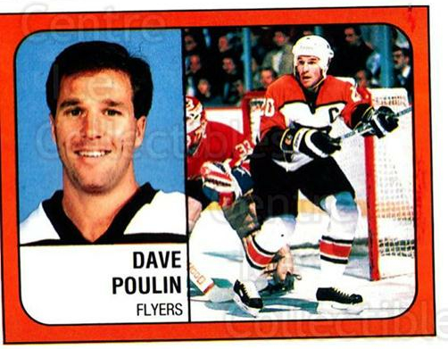 1988-89 Panini Stickers #323 Dave Poulin<br/>3 In Stock - $1.00 each - <a href=https://centericecollectibles.foxycart.com/cart?name=1988-89%20Panini%20Stickers%20%23323%20Dave%20Poulin...&quantity_max=3&price=$1.00&code=139368 class=foxycart> Buy it now! </a>