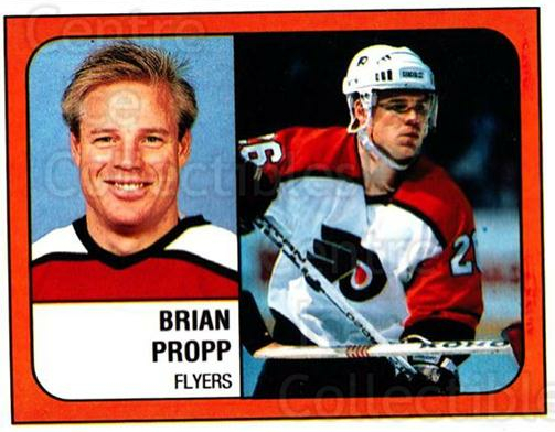 1988-89 Panini Stickers #324 Brian Propp<br/>3 In Stock - $1.00 each - <a href=https://centericecollectibles.foxycart.com/cart?name=1988-89%20Panini%20Stickers%20%23324%20Brian%20Propp...&quantity_max=3&price=$1.00&code=139369 class=foxycart> Buy it now! </a>