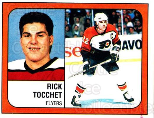 1988-89 Panini Stickers #326 Rick Tocchet<br/>3 In Stock - $1.00 each - <a href=https://centericecollectibles.foxycart.com/cart?name=1988-89%20Panini%20Stickers%20%23326%20Rick%20Tocchet...&quantity_max=3&price=$1.00&code=139371 class=foxycart> Buy it now! </a>