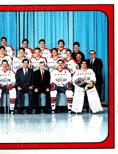 1988-89 Panini Stickers #376 Washington Capitals, Team Photo<br/>3 In Stock - $1.00 each - <a href=https://centericecollectibles.foxycart.com/cart?name=1988-89%20Panini%20Stickers%20%23376%20Washington%20Capi...&price=$1.00&code=139419 class=foxycart> Buy it now! </a>
