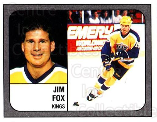 1988-89 Panini Stickers #76 Jim Fox<br/>4 In Stock - $1.00 each - <a href=https://centericecollectibles.foxycart.com/cart?name=1988-89%20Panini%20Stickers%20%2376%20Jim%20Fox...&price=$1.00&code=139484 class=foxycart> Buy it now! </a>