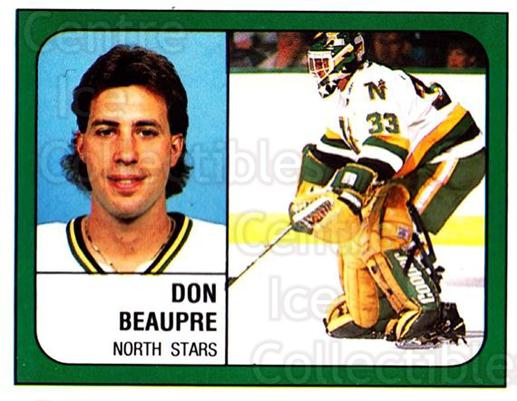 1988-89 Panini Stickers #84 Don Beaupre<br/>5 In Stock - $1.00 each - <a href=https://centericecollectibles.foxycart.com/cart?name=1988-89%20Panini%20Stickers%20%2384%20Don%20Beaupre...&quantity_max=5&price=$1.00&code=139493 class=foxycart> Buy it now! </a>