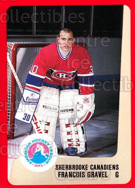 1988-89 ProCards AHL #273 Francois Gravel<br/>9 In Stock - $2.00 each - <a href=https://centericecollectibles.foxycart.com/cart?name=1988-89%20ProCards%20AHL%20%23273%20Francois%20Gravel...&price=$2.00&code=139521 class=foxycart> Buy it now! </a>
