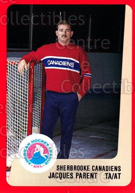 1988-89 ProCards AHL #274 Jacques Parent<br/>13 In Stock - $2.00 each - <a href=https://centericecollectibles.foxycart.com/cart?name=1988-89%20ProCards%20AHL%20%23274%20Jacques%20Parent...&price=$2.00&code=139522 class=foxycart> Buy it now! </a>