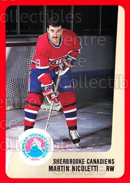 1988-89 ProCards AHL #277 Martin Nicoletti<br/>13 In Stock - $2.00 each - <a href=https://centericecollectibles.foxycart.com/cart?name=1988-89%20ProCards%20AHL%20%23277%20Martin%20Nicolett...&price=$2.00&code=139525 class=foxycart> Buy it now! </a>