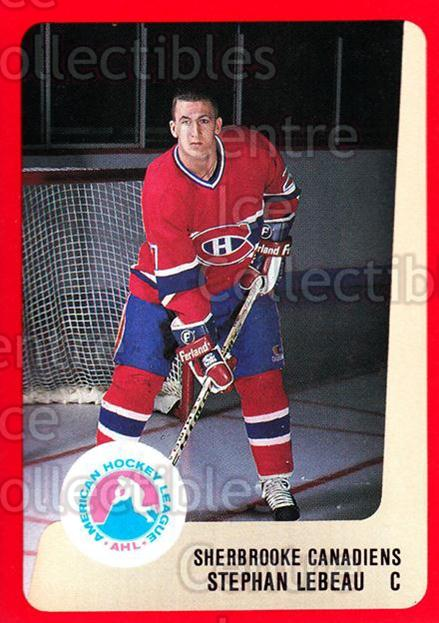 1988-89 ProCards AHL #279 Stephan Lebeau<br/>13 In Stock - $2.00 each - <a href=https://centericecollectibles.foxycart.com/cart?name=1988-89%20ProCards%20AHL%20%23279%20Stephan%20Lebeau...&price=$2.00&code=139528 class=foxycart> Buy it now! </a>