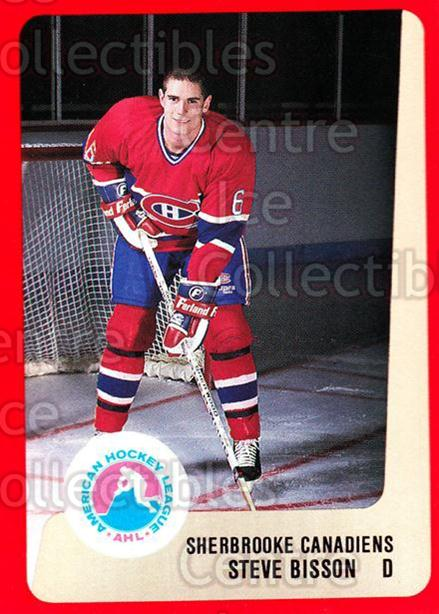 1988-89 ProCards AHL #281 Steve Bisson<br/>10 In Stock - $2.00 each - <a href=https://centericecollectibles.foxycart.com/cart?name=1988-89%20ProCards%20AHL%20%23281%20Steve%20Bisson...&price=$2.00&code=139530 class=foxycart> Buy it now! </a>