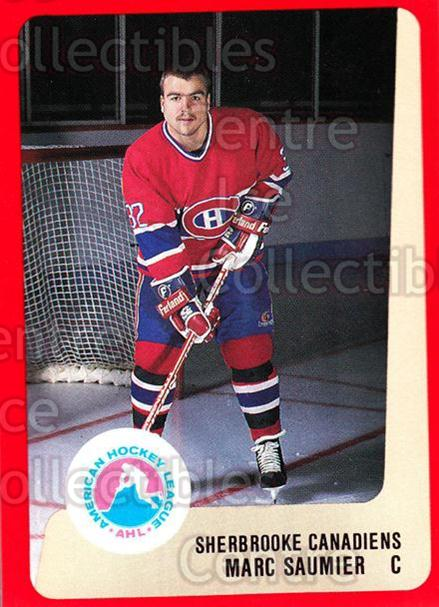 1988-89 ProCards AHL #286 Marc Saumier<br/>13 In Stock - $2.00 each - <a href=https://centericecollectibles.foxycart.com/cart?name=1988-89%20ProCards%20AHL%20%23286%20Marc%20Saumier...&price=$2.00&code=139535 class=foxycart> Buy it now! </a>