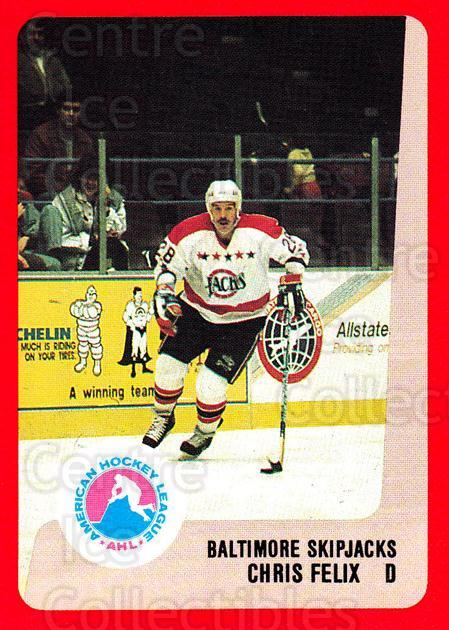 1988-89 ProCards AHL #29 Chris Felix<br/>10 In Stock - $2.00 each - <a href=https://centericecollectibles.foxycart.com/cart?name=1988-89%20ProCards%20AHL%20%2329%20Chris%20Felix...&quantity_max=10&price=$2.00&code=139537 class=foxycart> Buy it now! </a>