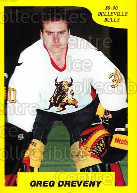 1989-90 7th Inning Sketch OHL #92 Greg Dreveny<br/>6 In Stock - $2.00 each - <a href=https://centericecollectibles.foxycart.com/cart?name=1989-90%207th%20Inning%20Sketch%20OHL%20%2392%20Greg%20Dreveny...&quantity_max=6&price=$2.00&code=139700 class=foxycart> Buy it now! </a>
