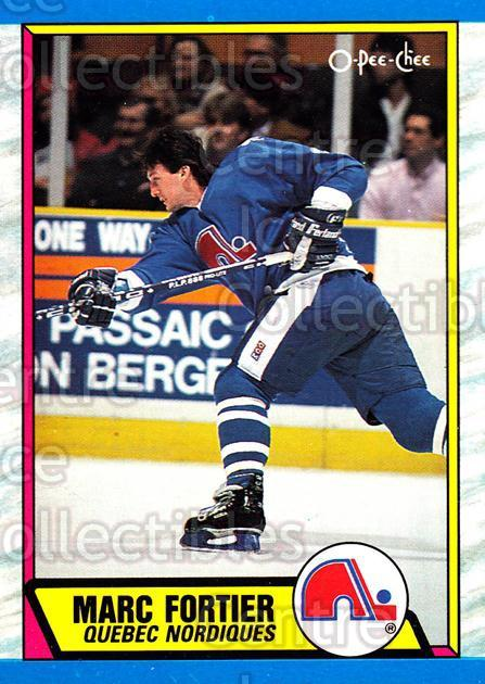 1989-90 O-Pee-Chee #262 Marc Fortier<br/>8 In Stock - $1.00 each - <a href=https://centericecollectibles.foxycart.com/cart?name=1989-90%20O-Pee-Chee%20%23262%20Marc%20Fortier...&quantity_max=8&price=$1.00&code=139728 class=foxycart> Buy it now! </a>