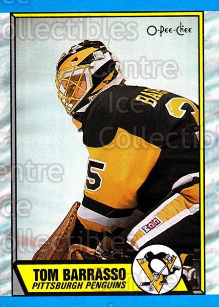 1989-90 O-Pee-Chee #36 Tom Barrasso<br/>5 In Stock - $1.00 each - <a href=https://centericecollectibles.foxycart.com/cart?name=1989-90%20O-Pee-Chee%20%2336%20Tom%20Barrasso...&price=$1.00&code=139799 class=foxycart> Buy it now! </a>
