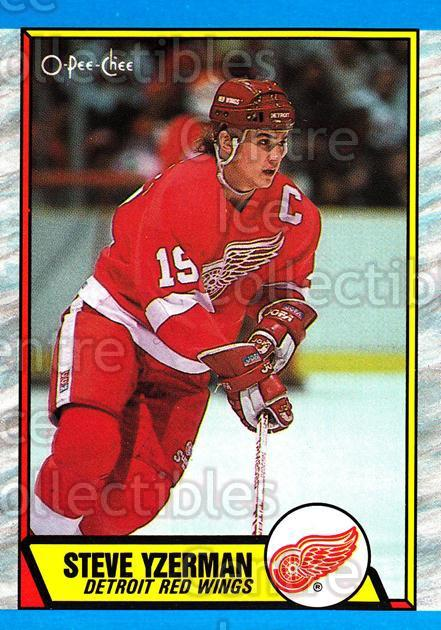 1989-90 O-Pee-Chee #83 Steve Yzerman<br/>8 In Stock - $2.00 each - <a href=https://centericecollectibles.foxycart.com/cart?name=1989-90%20O-Pee-Chee%20%2383%20Steve%20Yzerman...&price=$2.00&code=139847 class=foxycart> Buy it now! </a>