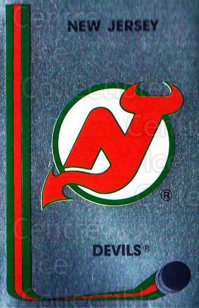1989-90 Panini Stickers #248 New Jersey Devils<br/>2 In Stock - $1.00 each - <a href=https://centericecollectibles.foxycart.com/cart?name=1989-90%20Panini%20Stickers%20%23248%20New%20Jersey%20Devi...&quantity_max=2&price=$1.00&code=139944 class=foxycart> Buy it now! </a>