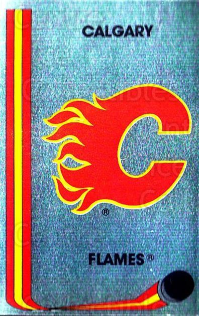 1989-90 Panini Stickers #26 Calgary Flames<br/>3 In Stock - $1.00 each - <a href=https://centericecollectibles.foxycart.com/cart?name=1989-90%20Panini%20Stickers%20%2326%20Calgary%20Flames...&quantity_max=3&price=$1.00&code=139956 class=foxycart> Buy it now! </a>