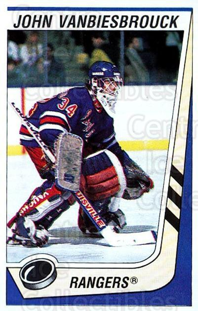 1989-90 Panini Stickers #282 John Vanbiesbrouck<br/>3 In Stock - $1.00 each - <a href=https://centericecollectibles.foxycart.com/cart?name=1989-90%20Panini%20Stickers%20%23282%20John%20Vanbiesbro...&quantity_max=3&price=$1.00&code=139981 class=foxycart> Buy it now! </a>
