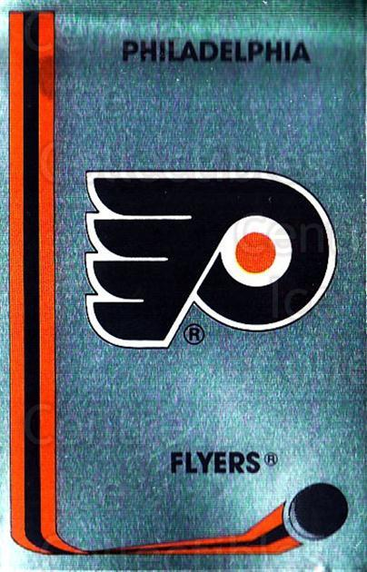 1989-90 Panini Stickers #293 Philadelphia Flyers<br/>3 In Stock - $1.00 each - <a href=https://centericecollectibles.foxycart.com/cart?name=1989-90%20Panini%20Stickers%20%23293%20Philadelphia%20Fl...&quantity_max=3&price=$1.00&code=139993 class=foxycart> Buy it now! </a>