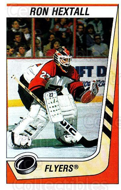 1989-90 Panini Stickers #302 Ron Hextall<br/>2 In Stock - $1.00 each - <a href=https://centericecollectibles.foxycart.com/cart?name=1989-90%20Panini%20Stickers%20%23302%20Ron%20Hextall...&quantity_max=2&price=$1.00&code=140004 class=foxycart> Buy it now! </a>