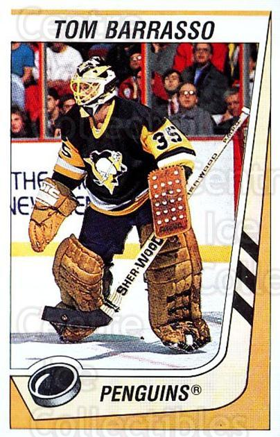 1989-90 Panini Stickers #312 Tom Barrasso<br/>3 In Stock - $1.00 each - <a href=https://centericecollectibles.foxycart.com/cart?name=1989-90%20Panini%20Stickers%20%23312%20Tom%20Barrasso...&price=$1.00&code=140013 class=foxycart> Buy it now! </a>
