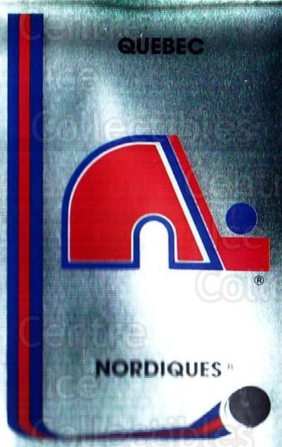 1989-90 Panini Stickers #323 Quebec Nordiques<br/>1 In Stock - $1.00 each - <a href=https://centericecollectibles.foxycart.com/cart?name=1989-90%20Panini%20Stickers%20%23323%20Quebec%20Nordique...&quantity_max=1&price=$1.00&code=140025 class=foxycart> Buy it now! </a>