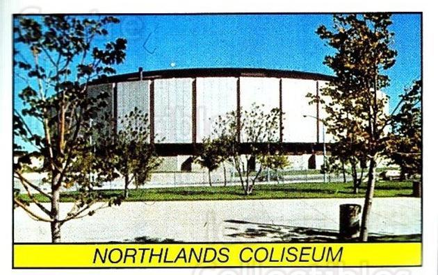 1989-90 Panini Stickers #85 Northlands Coliseum<br/>1 In Stock - $1.00 each - <a href=https://centericecollectibles.foxycart.com/cart?name=1989-90%20Panini%20Stickers%20%2385%20Northlands%20Coli...&quantity_max=1&price=$1.00&code=140136 class=foxycart> Buy it now! </a>