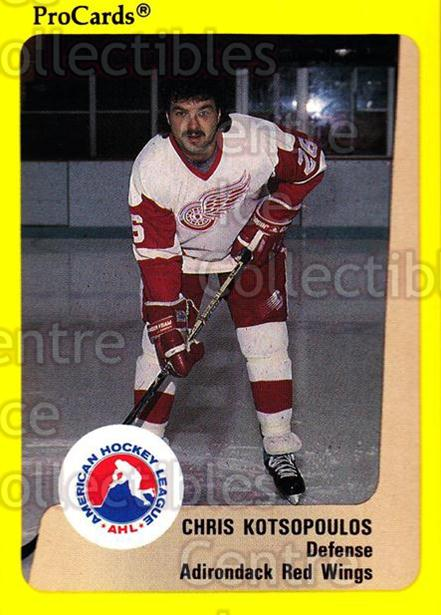1989-90 ProCards AHL #309 Chris Kotsopoulos<br/>11 In Stock - $2.00 each - <a href=https://centericecollectibles.foxycart.com/cart?name=1989-90%20ProCards%20AHL%20%23309%20Chris%20Kotsopoul...&quantity_max=11&price=$2.00&code=140230 class=foxycart> Buy it now! </a>