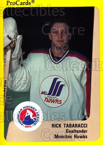 1989-90 ProCards AHL #45 Rick Tabaracci<br/>9 In Stock - $2.00 each - <a href=https://centericecollectibles.foxycart.com/cart?name=1989-90%20ProCards%20AHL%20%2345%20Rick%20Tabaracci...&price=$2.00&code=140294 class=foxycart> Buy it now! </a>