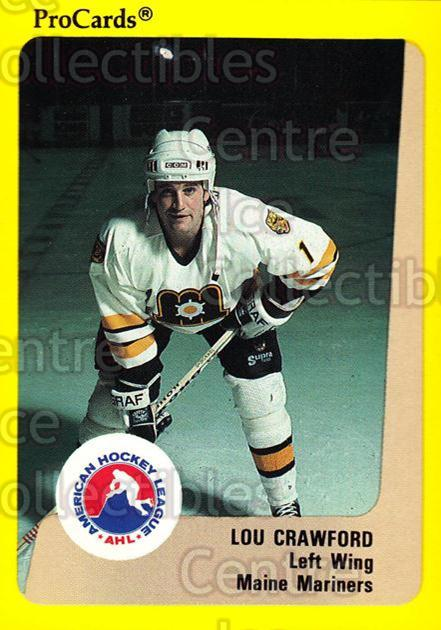 1989-90 ProCards AHL #56 Lou Crawford<br/>13 In Stock - $2.00 each - <a href=https://centericecollectibles.foxycart.com/cart?name=1989-90%20ProCards%20AHL%20%2356%20Lou%20Crawford...&price=$2.00&code=140306 class=foxycart> Buy it now! </a>