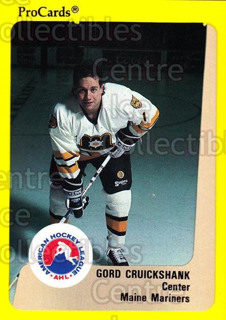 1989-90 ProCards AHL #62 Gord Cruickshank<br/>13 In Stock - $2.00 each - <a href=https://centericecollectibles.foxycart.com/cart?name=1989-90%20ProCards%20AHL%20%2362%20Gord%20Cruickshan...&quantity_max=13&price=$2.00&code=140312 class=foxycart> Buy it now! </a>