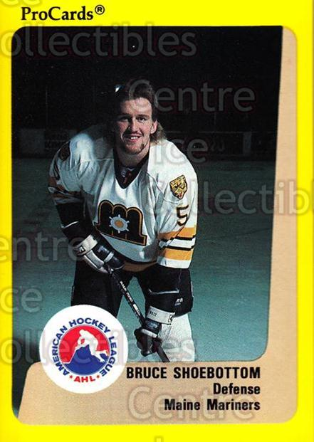 1989-90 ProCards AHL #63 Bruce Shoebottom<br/>9 In Stock - $2.00 each - <a href=https://centericecollectibles.foxycart.com/cart?name=1989-90%20ProCards%20AHL%20%2363%20Bruce%20Shoebotto...&price=$2.00&code=140313 class=foxycart> Buy it now! </a>
