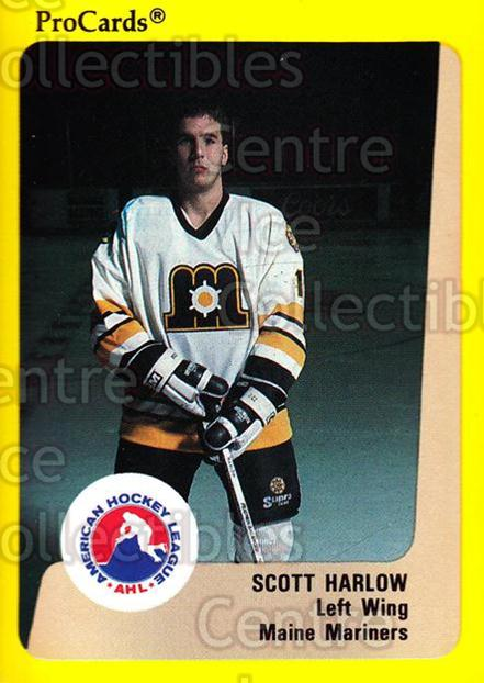 1989-90 ProCards AHL #66 Scott Harlow<br/>12 In Stock - $2.00 each - <a href=https://centericecollectibles.foxycart.com/cart?name=1989-90%20ProCards%20AHL%20%2366%20Scott%20Harlow...&price=$2.00&code=140316 class=foxycart> Buy it now! </a>