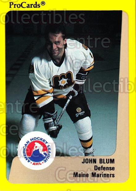 1989-90 ProCards AHL #73 John Blum<br/>5 In Stock - $2.00 each - <a href=https://centericecollectibles.foxycart.com/cart?name=1989-90%20ProCards%20AHL%20%2373%20John%20Blum...&price=$2.00&code=140324 class=foxycart> Buy it now! </a>