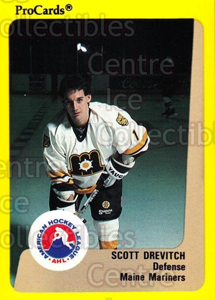 1989-90 ProCards AHL #76 Scott Drevitch<br/>11 In Stock - $2.00 each - <a href=https://centericecollectibles.foxycart.com/cart?name=1989-90%20ProCards%20AHL%20%2376%20Scott%20Drevitch...&quantity_max=11&price=$2.00&code=140327 class=foxycart> Buy it now! </a>