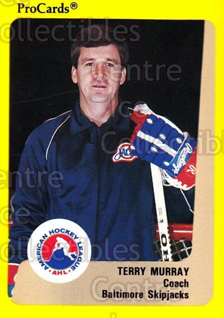 1989-90 ProCards AHL #92 Terry Murray<br/>10 In Stock - $2.00 each - <a href=https://centericecollectibles.foxycart.com/cart?name=1989-90%20ProCards%20AHL%20%2392%20Terry%20Murray...&quantity_max=10&price=$2.00&code=140344 class=foxycart> Buy it now! </a>