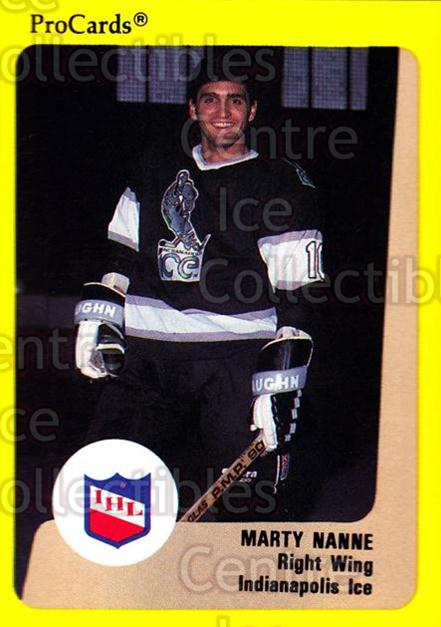 1989-90 ProCards IHL #54 Marty Nanne<br/>11 In Stock - $2.00 each - <a href=https://centericecollectibles.foxycart.com/cart?name=1989-90%20ProCards%20IHL%20%2354%20Marty%20Nanne...&quantity_max=11&price=$2.00&code=140354 class=foxycart> Buy it now! </a>