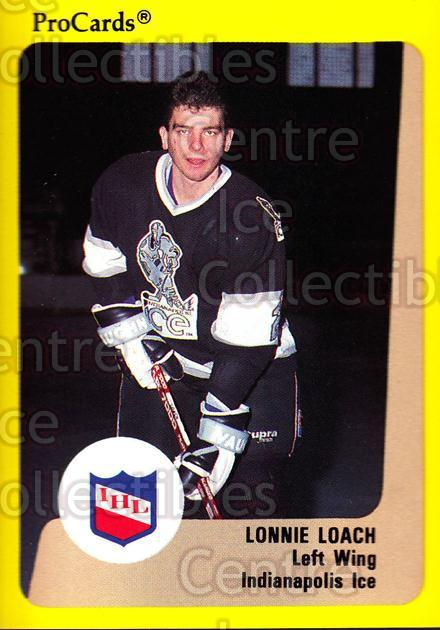 1989-90 ProCards IHL #60 Lonnie Loach<br/>8 In Stock - $2.00 each - <a href=https://centericecollectibles.foxycart.com/cart?name=1989-90%20ProCards%20IHL%20%2360%20Lonnie%20Loach...&quantity_max=8&price=$2.00&code=140360 class=foxycart> Buy it now! </a>