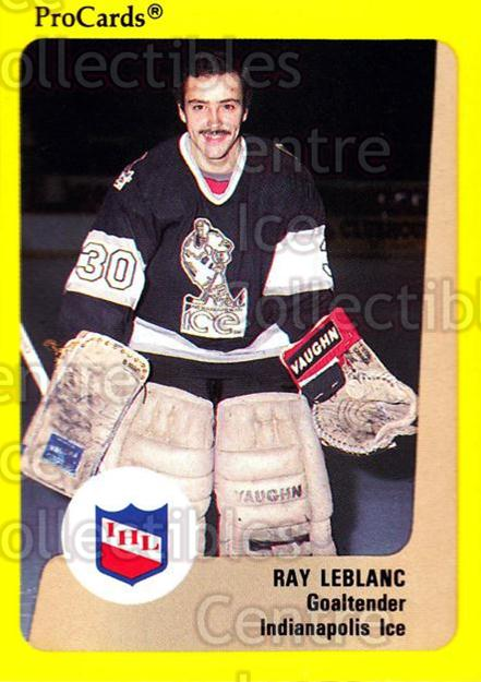 1989-90 ProCards IHL #67 Ray LeBlanc<br/>6 In Stock - $2.00 each - <a href=https://centericecollectibles.foxycart.com/cart?name=1989-90%20ProCards%20IHL%20%2367%20Ray%20LeBlanc...&quantity_max=6&price=$2.00&code=140367 class=foxycart> Buy it now! </a>