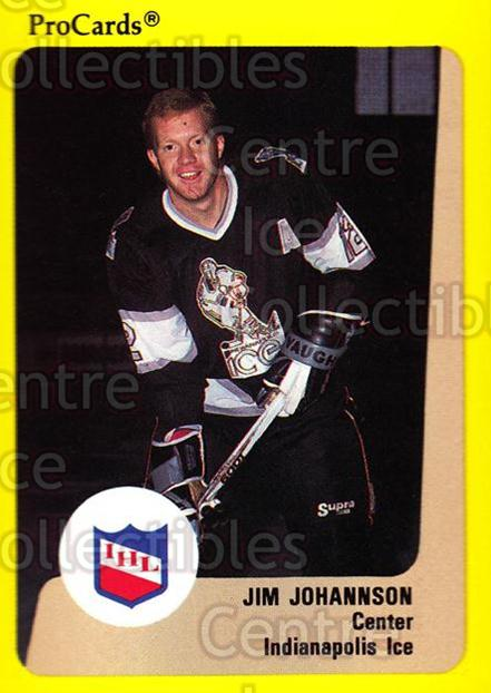 1989-90 ProCards IHL #70 Jim Johannson<br/>5 In Stock - $2.00 each - <a href=https://centericecollectibles.foxycart.com/cart?name=1989-90%20ProCards%20IHL%20%2370%20Jim%20Johannson...&quantity_max=5&price=$2.00&code=140371 class=foxycart> Buy it now! </a>